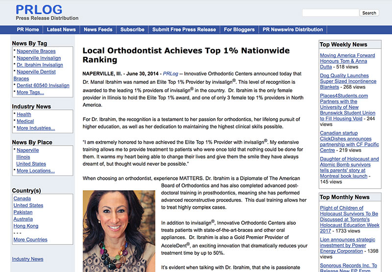 press-release-local-orthodontist-achieves-top-1-nationwide-ranking