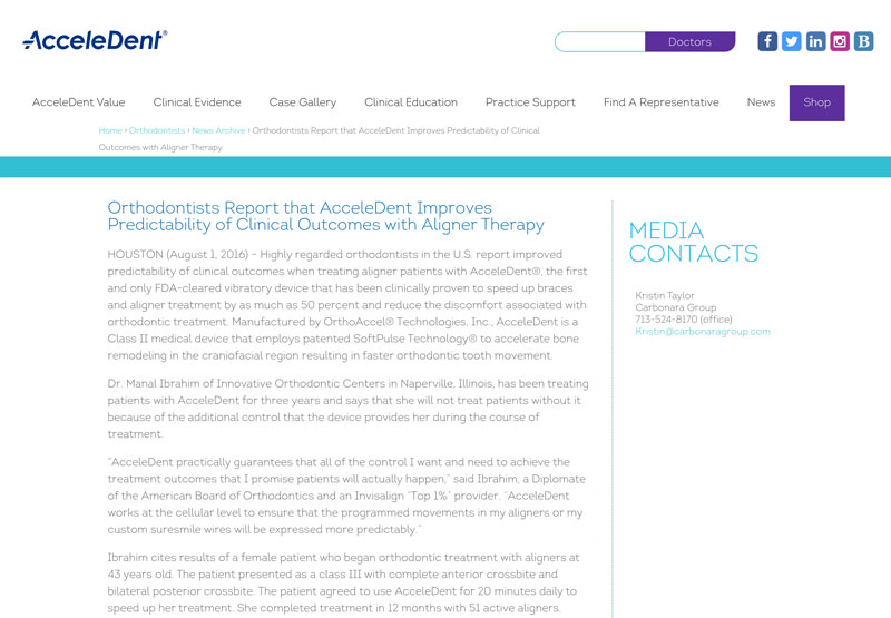 Orthodontists Report that AcceleDent Improves Predictability of Clinical Outcomes with Aligner Therapy
